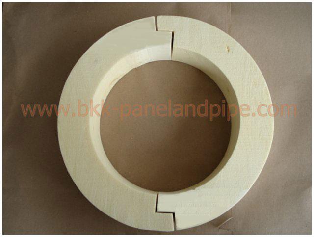 งานติดตั้งฉนวนโฟมรองท่อ (Pipe Support) สำหรับการรองรับน้ำหนักของท่อต่างๆ