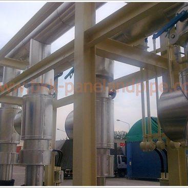 งานติดตั้งแจ็คเก็ตที่หน่วยงาน สแตนเลส (Stainless) / อลูมิเนียม (Aluminum) / สังกะสี (Zinc) สำหรับงาน