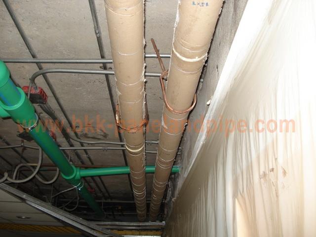 งานติดตั้งฉนวนโพลียูเรเทนโฟม สำหรับงานท่อ